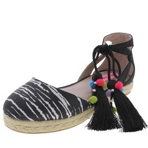 BETSEY JOHNSON HAZYL BEADED CLOSED TOE ESPADRILLES